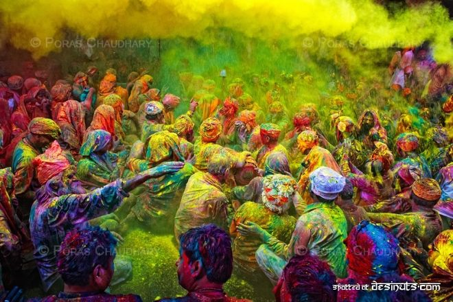 Holi, Festival of Colors, in India. (Photo by Poras Chaudhary)
