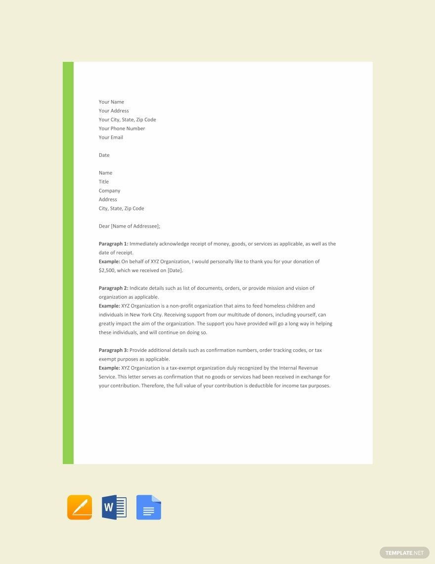 Acknowledgement Letter Format Template Free Pdf Google Docs Word Template Net Lettering Letter Templates Words