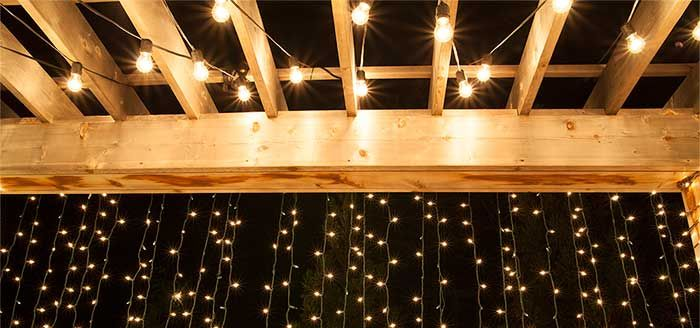 How To Plan And Hang Patio Lights Christmas Lights Etc Patio