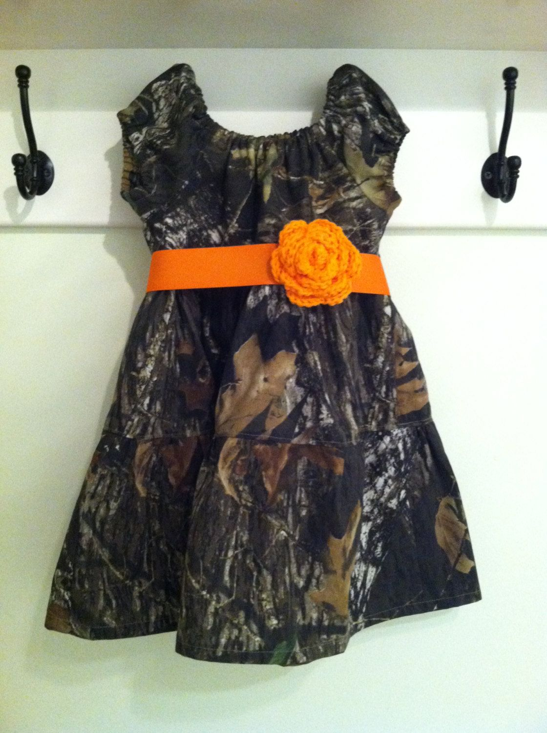 Flower girl dresses girls camo peasant style dress size to