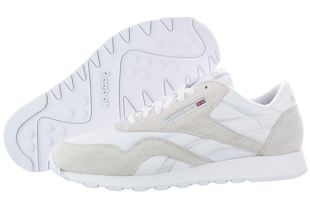 reebok classic nylon white mens