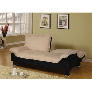Elegant Beige Microfiber Futon Sofa Bed Couch Sleeper By Coaster Furniture Coaster Contemporary Sofa Bed Futon Sofa Small Sofa Bed