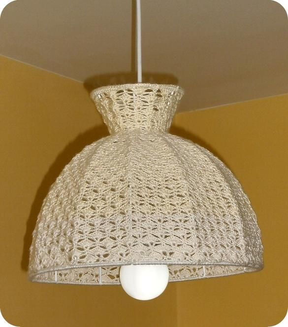 L mparas de crochet buscar con google cortinas y for Lamparas para apartamentos pequenos