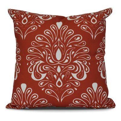 E by Design Veranda Outdoor Throw Pillow Orange - O5PG796OR18-18