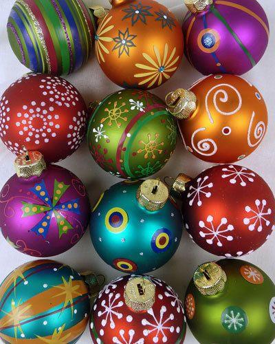 Christbaumkugeln Ornament.Mille Fiori Design 12 Christbaumkugeln Aus Glas Christmas Magic