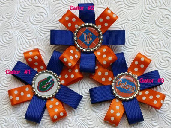 Kids' Clothing, Shoes & Accs Lovely Florida Gators Bottlecap Hairbow