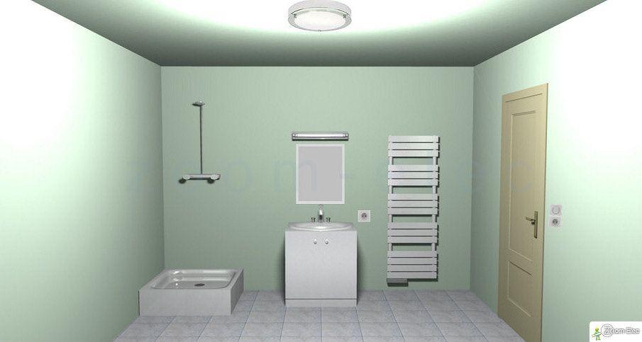 Installation electrique de la salle de bain, plan de lu0027électricité d - Plan Electrique Salle De Bain