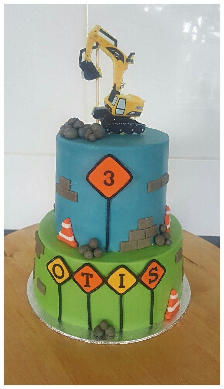 Excavator Birthday Cake Sugar Craft And Tutorials Pinterest