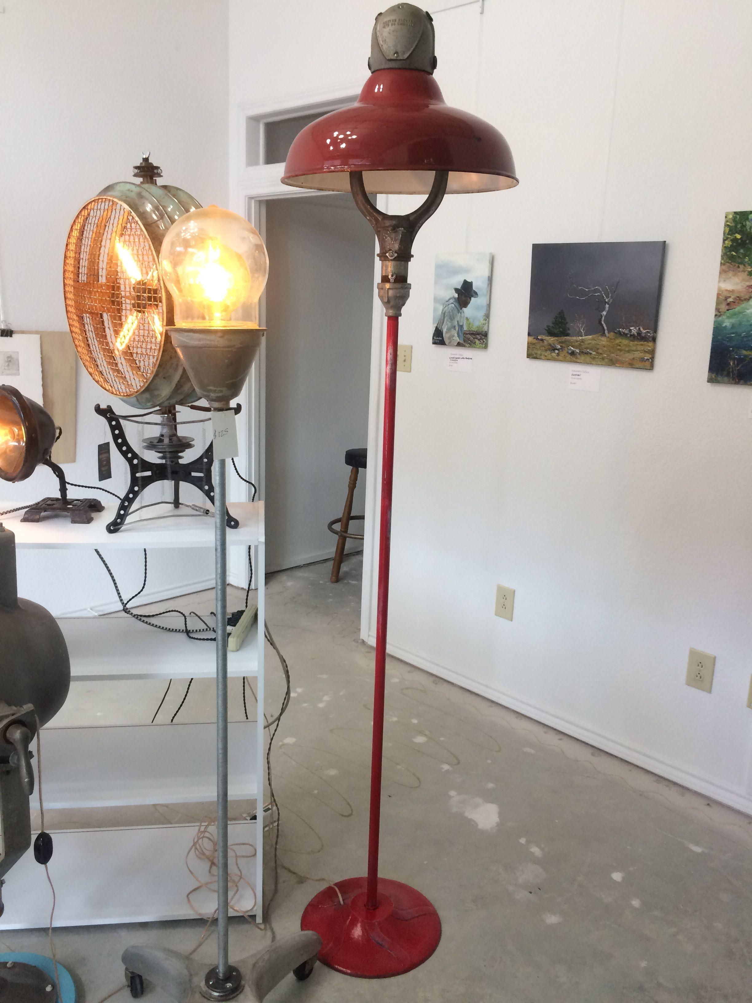 Vintage 1950 S Revere Gas Station Island Light Lamp