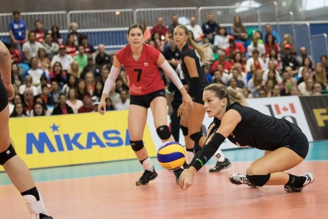 Canada S Women S Team Comes Back To Beat Peru In Four Sets For Home Win Isn Women Volleyball Volleyball Team Grand Prix