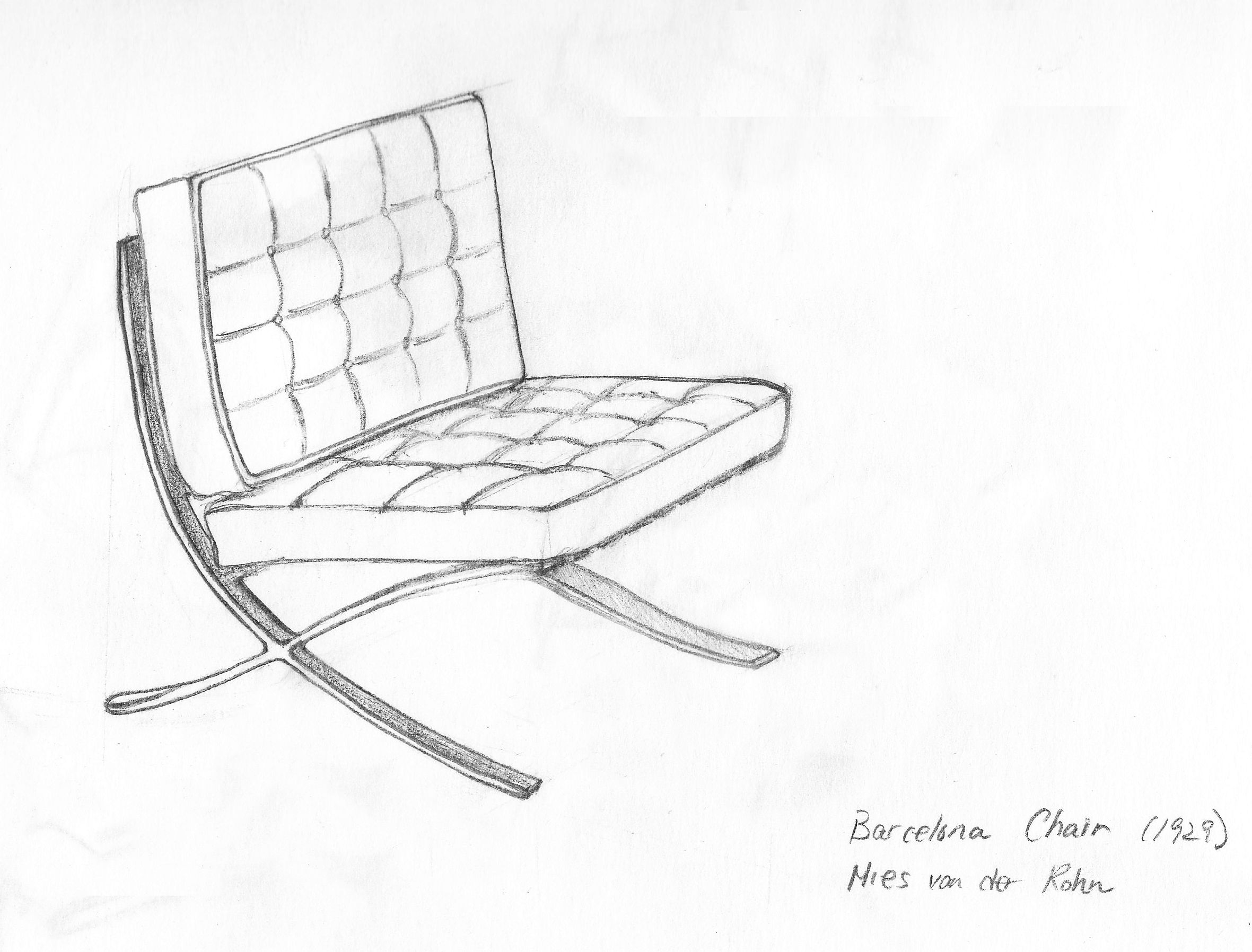 how to draw a chair easy