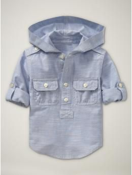 convertible hooded shirt. so adorable!
