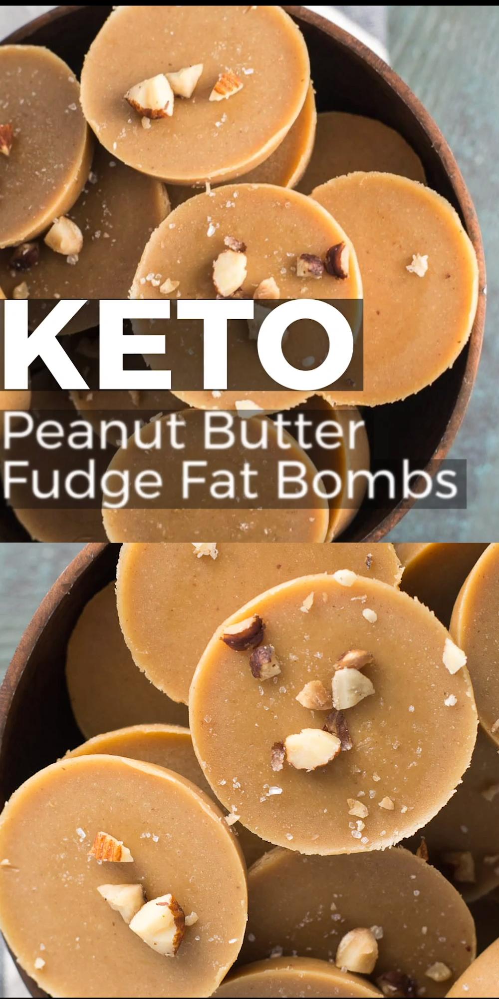 Keto Peanut Butter Fudge Fat Bombs