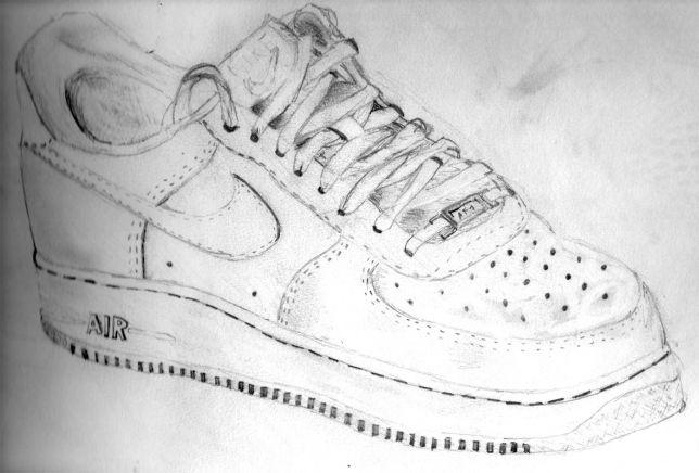 nike air force 1 drawing