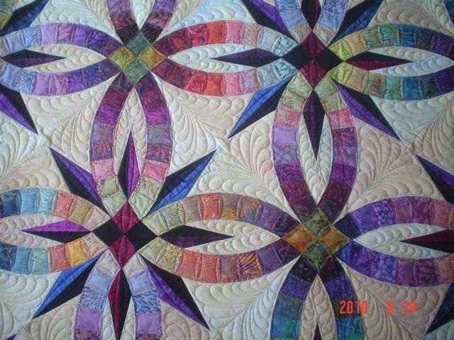 Www Myquilter Blogspot Com Bali Wedding Star Quilt Double Wedding Ring Quilt Star Quilt Patterns Wedding Ring Quilt