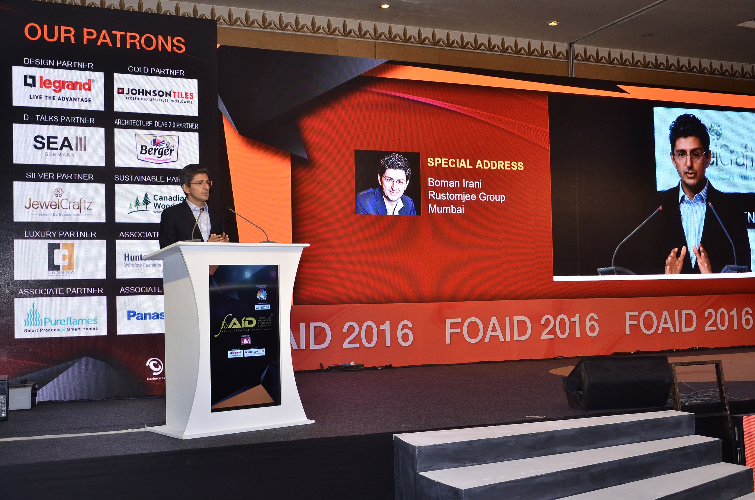"""""""Design is not about how it looks, it's about how it's used"""" Watch the exclusive talk of a very young & inspiring leader of the Indian Real Estate industry at FOAID 2016, Mumbai edition - with Rustomjee Boman Rustom Irani  Link - https://youtu.be/PAZx64t_wDY"""