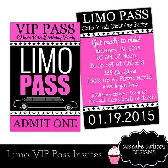 Limo VIP Lanyard Badge Custom Invites By