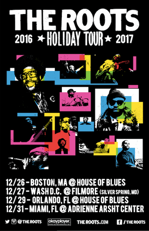 The Roots announces 2016 Holiday Tour Dates #TheRoots #2016HolidayTour #Hiphop #TheFifthDynasty