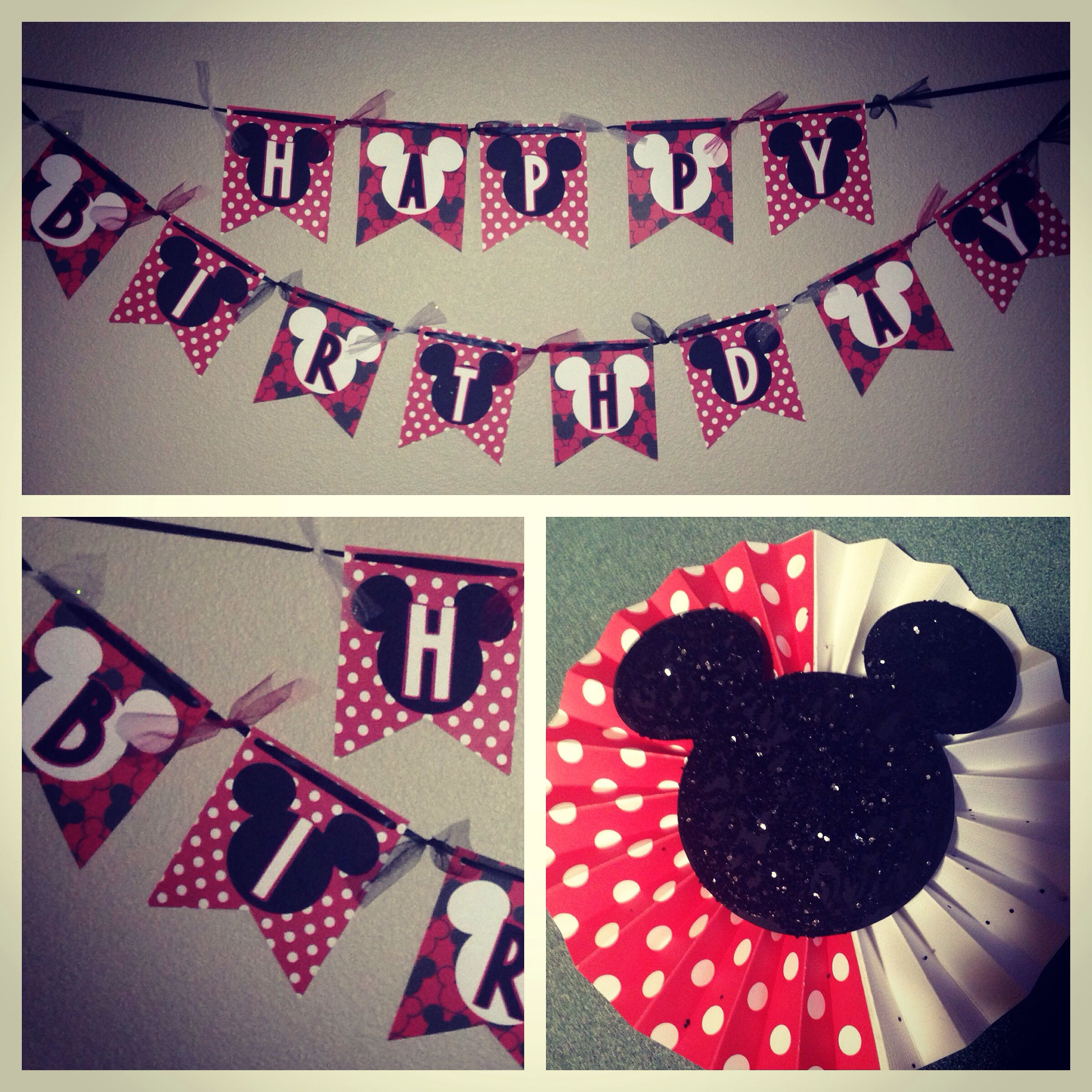 Handcrafted Disney's Mickey Mouse Birthday banner