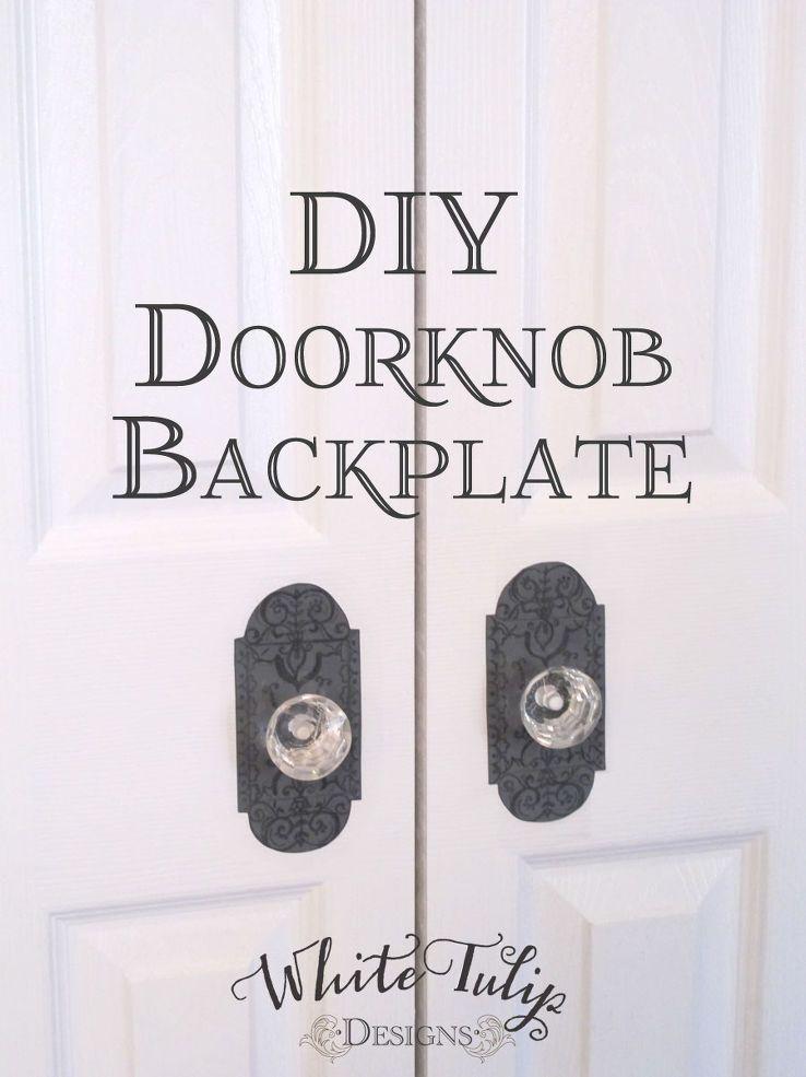 DIY Doorknob Backplate  sc 1 st  Pinterest & DIY Doorknob Backplate   Door kits Bi fold doors and Pantry pezcame.com