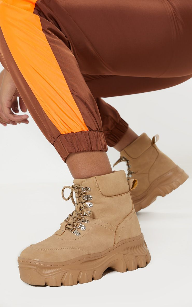 a01678c600d Sand Chunky Sole Hiker Boot in 2019 | clothes | Boots, Shoes ...
