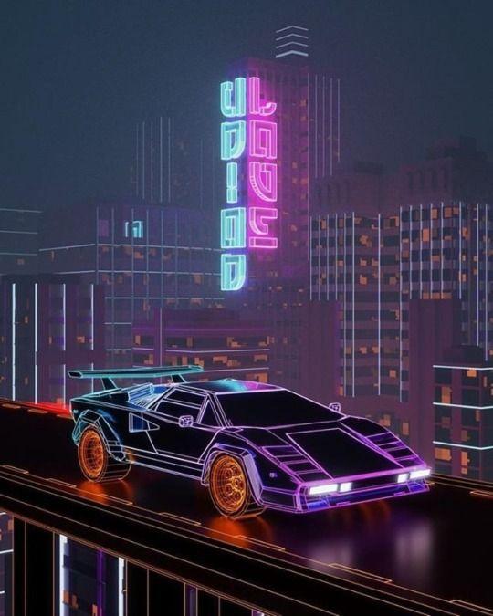 Givannikelly Synthwave Art Retro Futuristic Cyberpunk Aesthetic