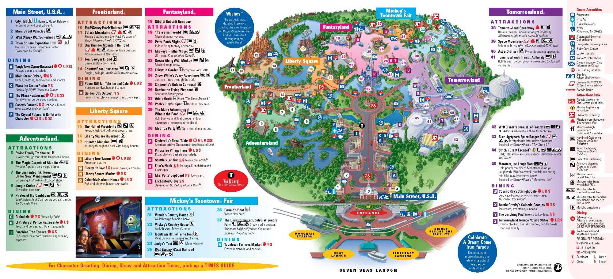 Magic Kingdom Downloadable Map   ... à Magic Kingdom à Walt ...
