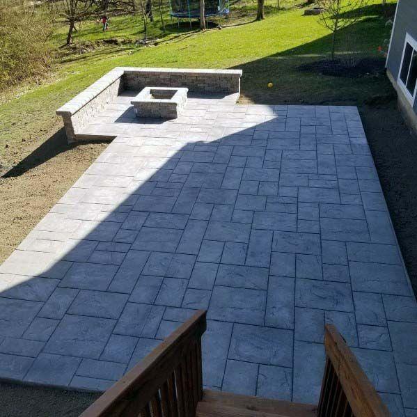 Top 50 Best Stamped Concrete Patio Ideas Outdoor Space Designs Patio Pavers Design Outdoor Patio Ideas Backyards Stamped Concrete Patio