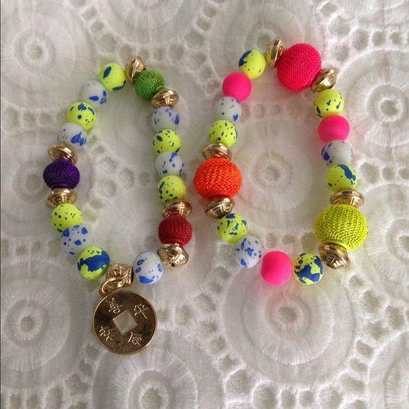Neón bracelets Perfect condition. Jewelry Bracelets