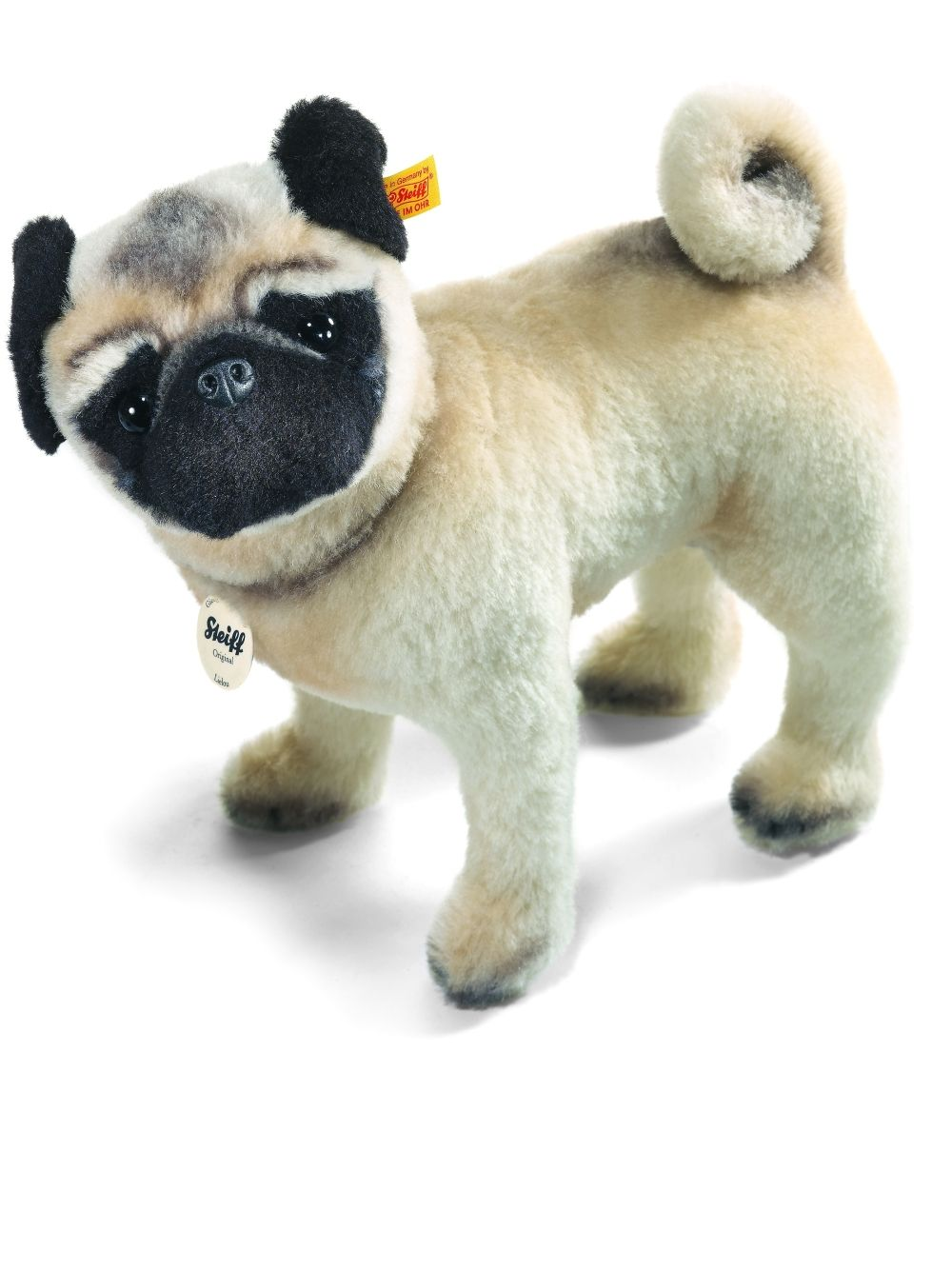 Steiff Lielou Pug Mohair Stuffed Animal Pug Dog Puppy
