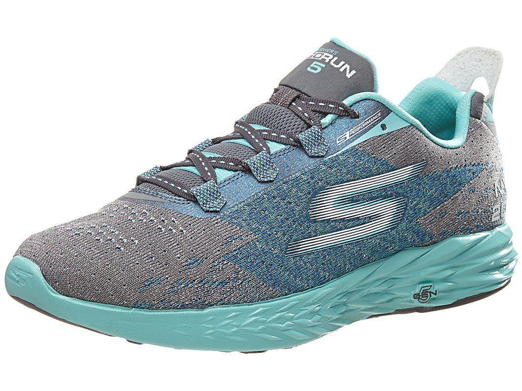 SKECHERS Go Run 5 NYC 16 GrayBlue Women's Running Shoes
