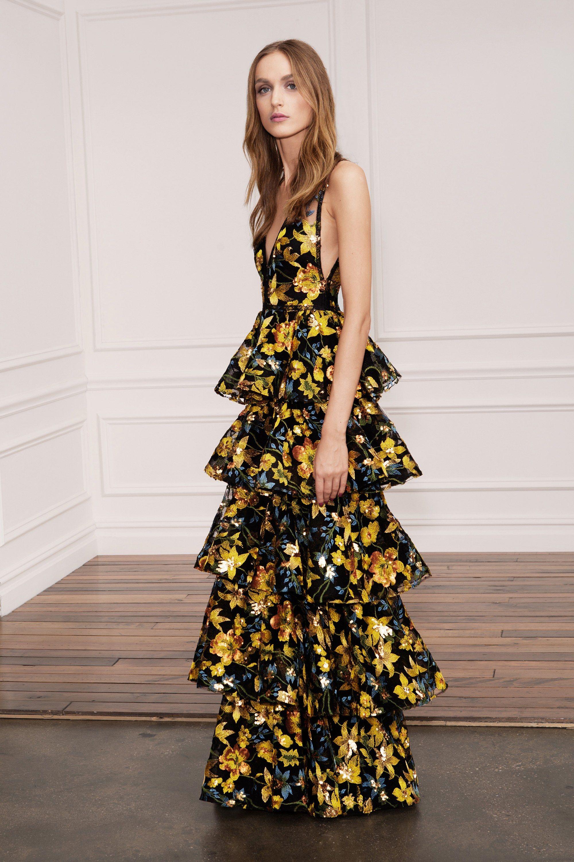 Marchesa notte dress spring 2018 colors