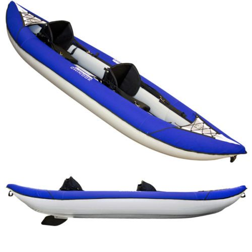 Aquaglide Chinook Tandem 12 5 Ft Inflatable Kayak For 1 3 Paddlers With BackPack