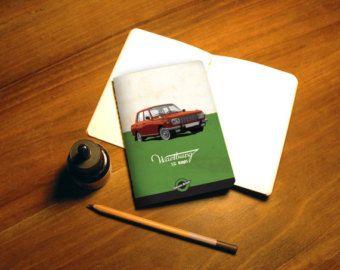 Sketchbook, notebook, Wartburg, digital print, DDR, Canson paper, Central European car