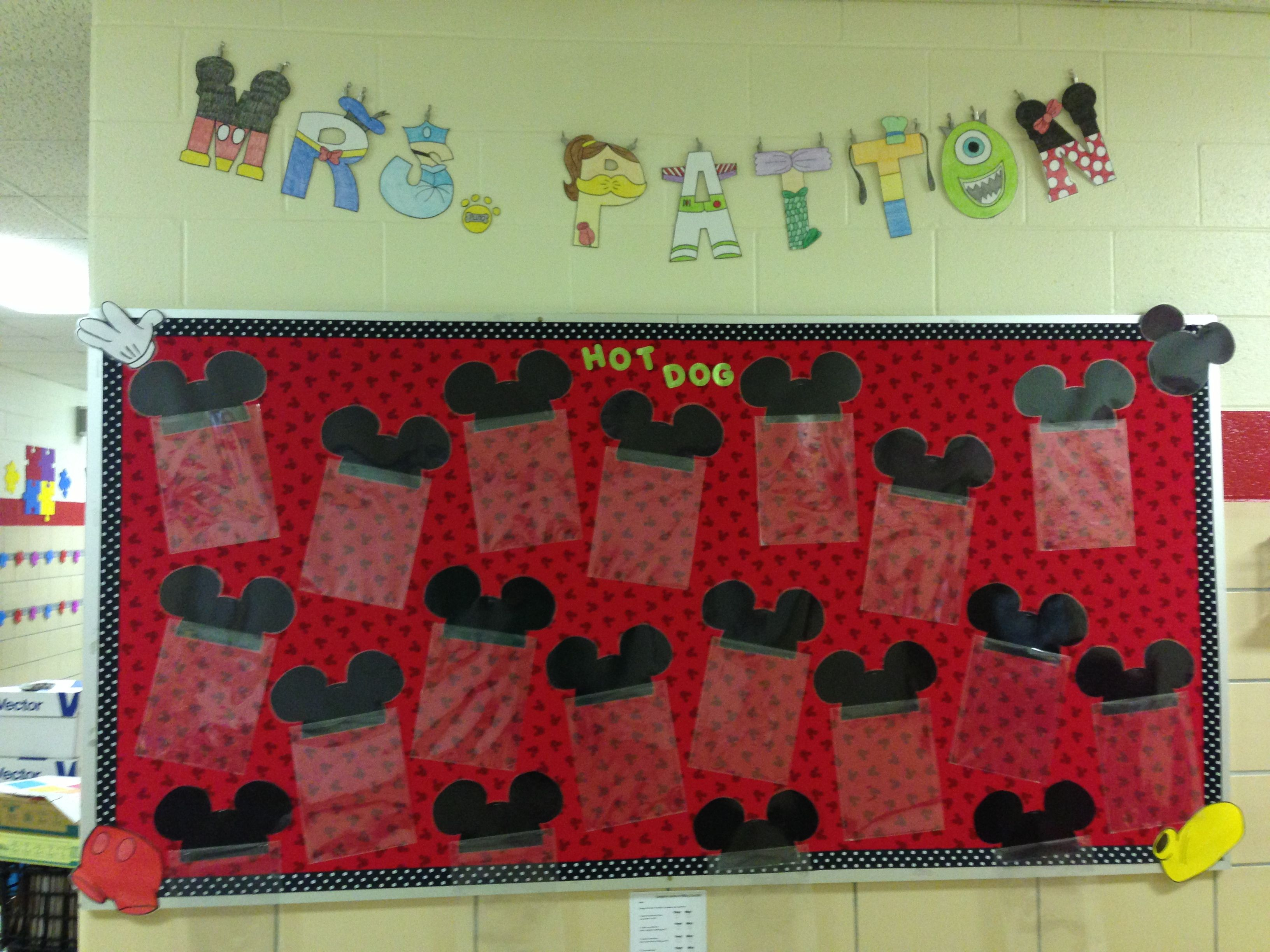 Go green vegetable bulletin board idea myclassroomideas com - Mickey Mouse Bulletin Board School Disney Character Letters