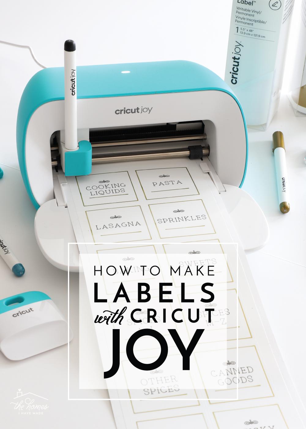 How To Make Labels With Cricut Joy The Homes I Have Made In 2020 How To Make Labels Cricut Tutorials Diy Cricut