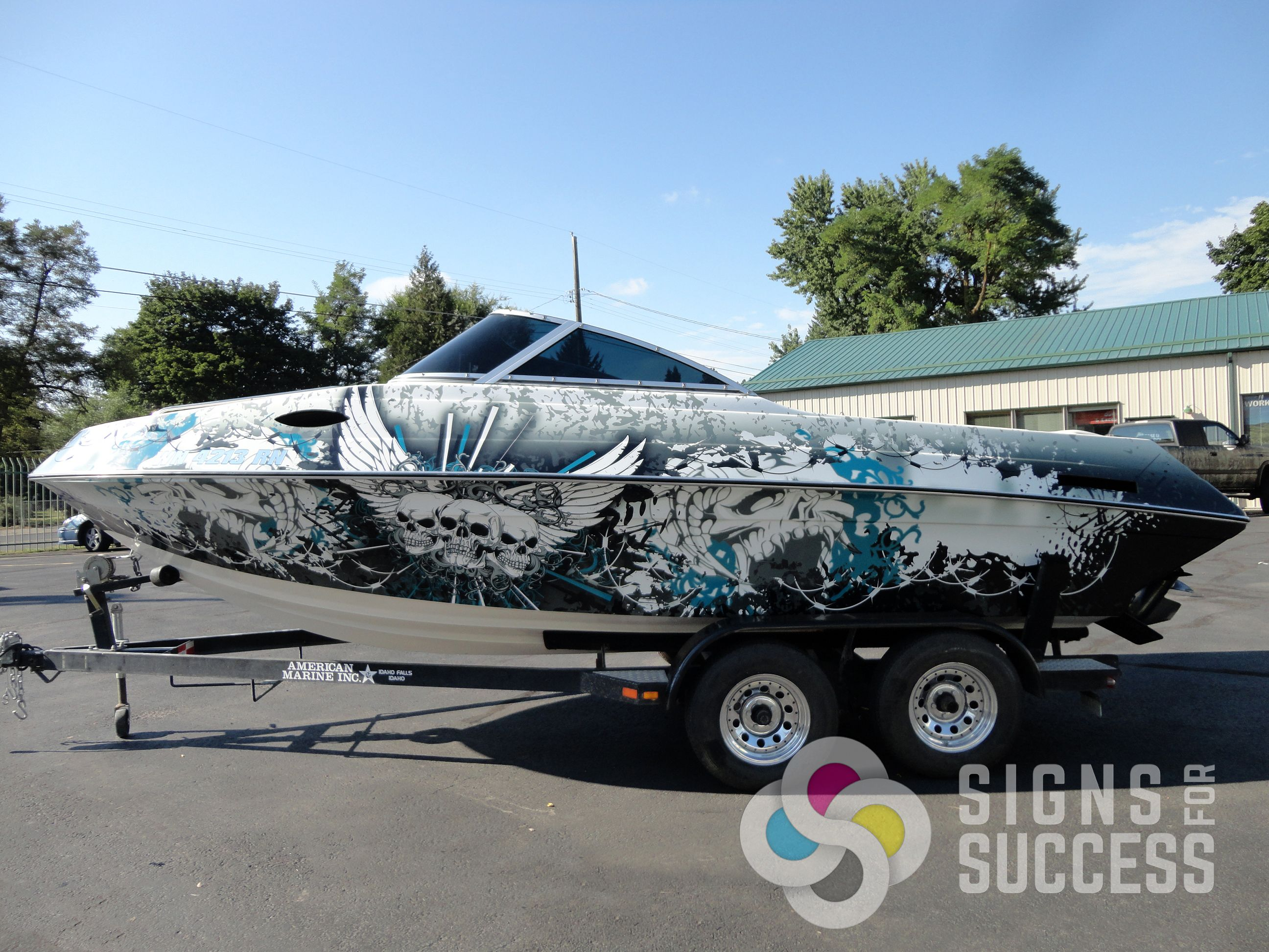 Best Boat Wraps Custom Vinyl Images On Pinterest Boat Wraps - Boat vinyl decalstracker inch boat graphic vinyl decals set ofgreat