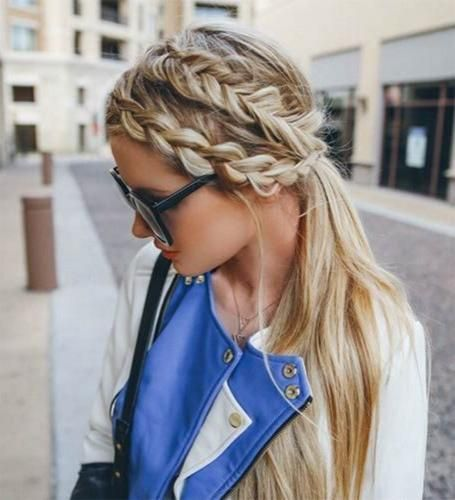 nice Modern and Classy French Braids Hairstyles //
