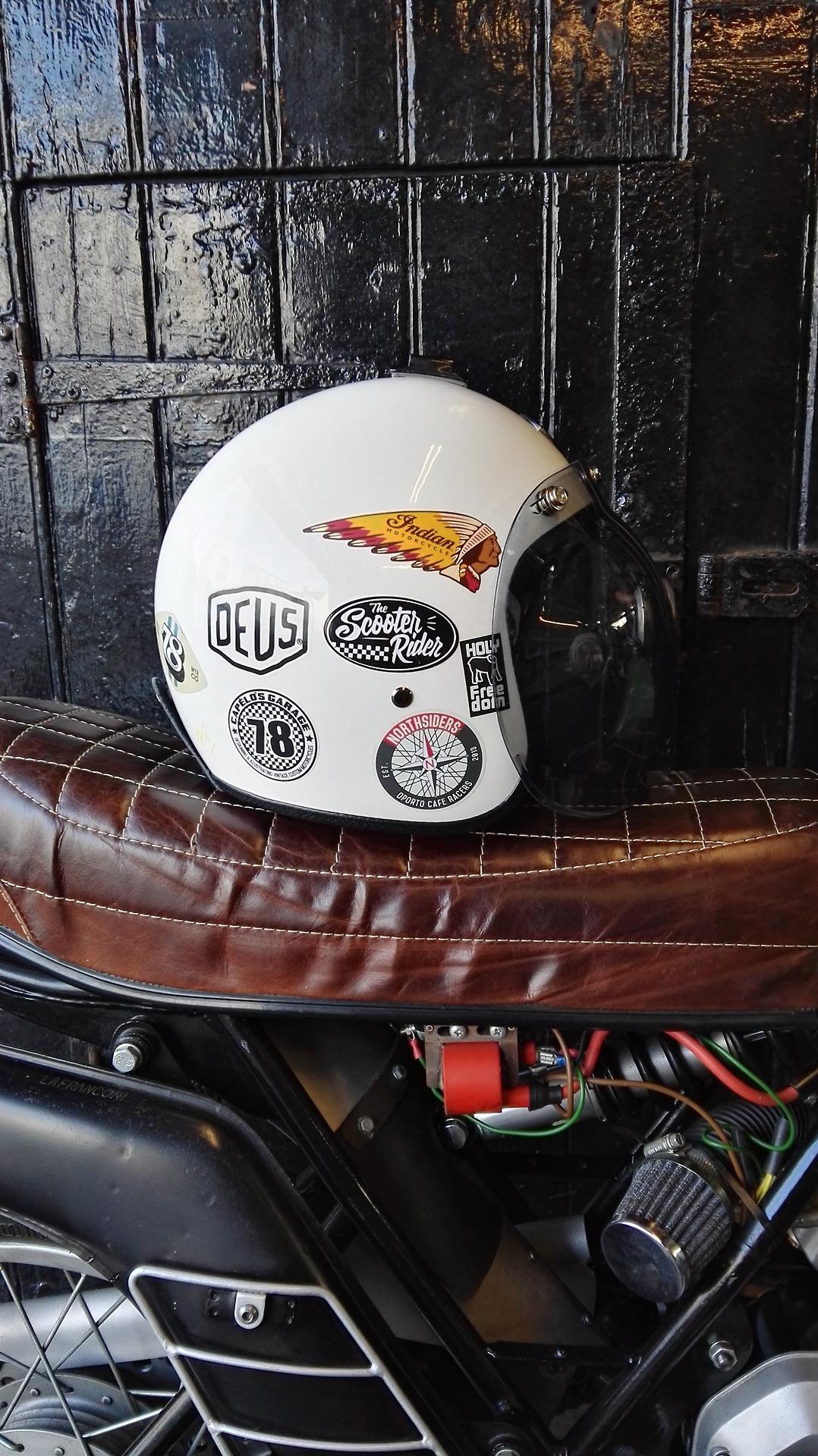 Motorstylegarage Motorcycle Helmets Vintage Cafe Racer Helmet Motorcycle Helmet Decals