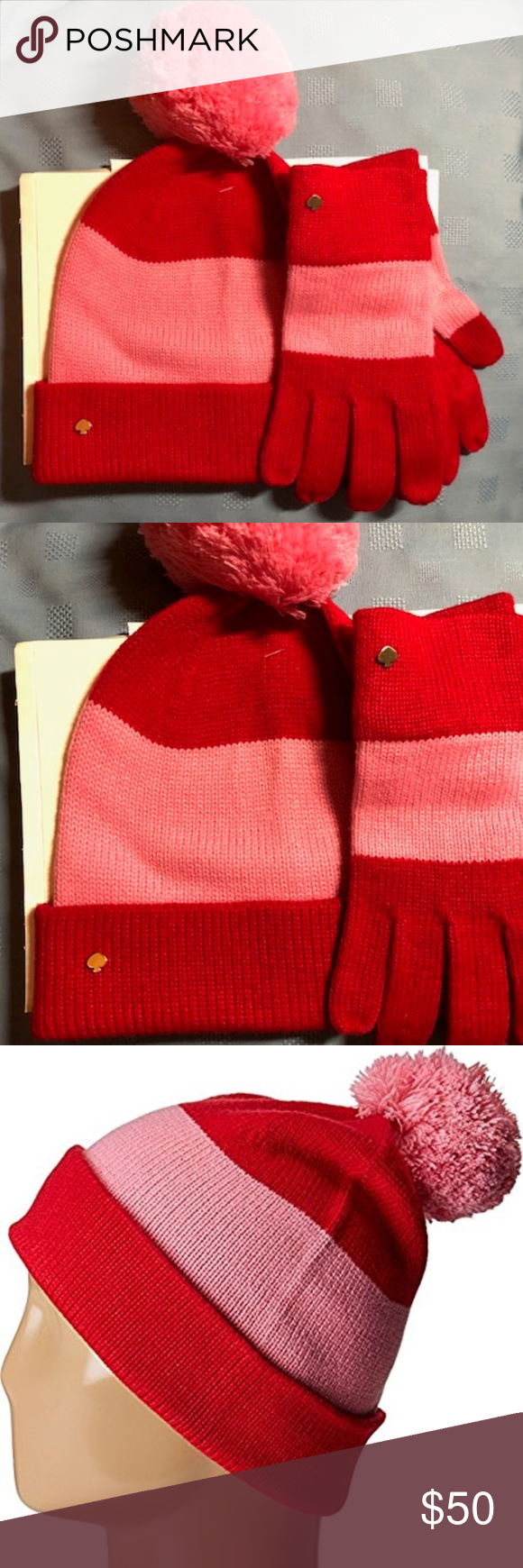 f40a776fbf214 Kate Spade Color Block Beanie and gloves. Kate Spade New York Womens Color Block  Beanie