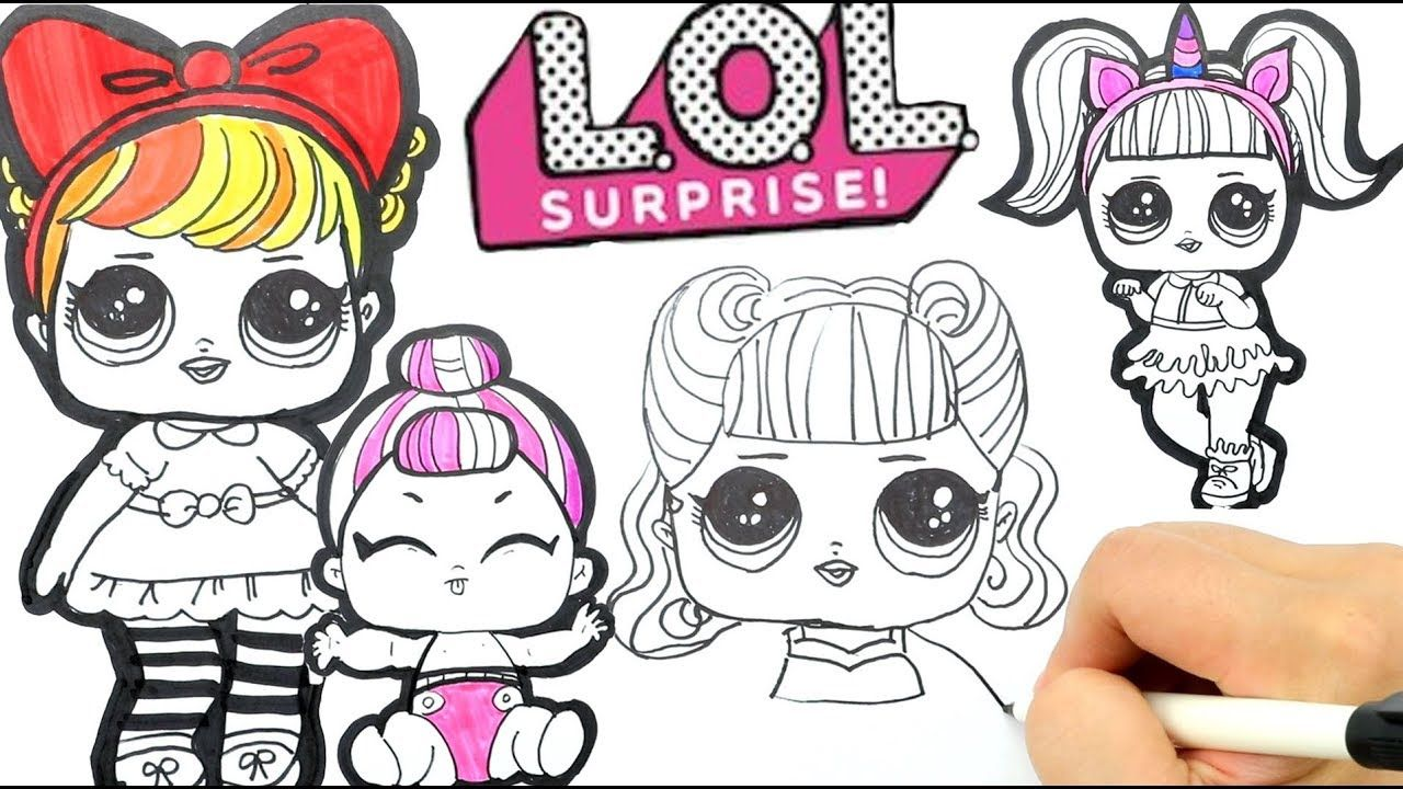 How To Draw Lol Dolls Learn English With Lol Dolls Drawing Coloring Doll Drawing Lol Dolls Easy Drawings