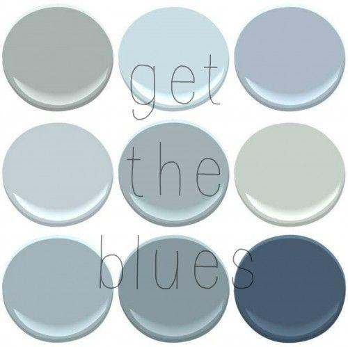 benjamin moore blues | new house paint ideas | pinterest