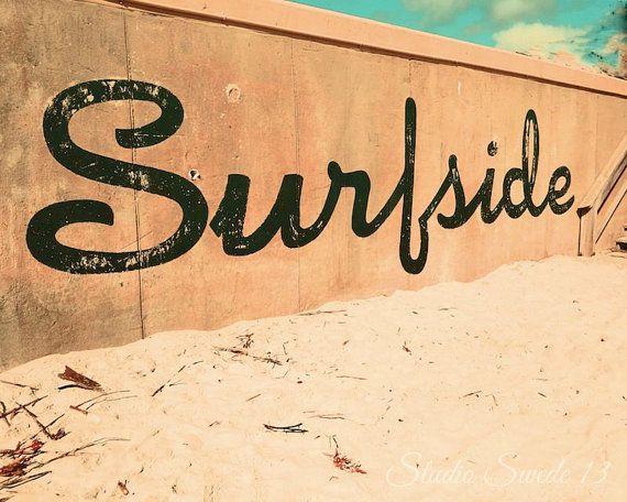 Beach Print Florida Beach Wall Art Surfside Rustic Beach Decor