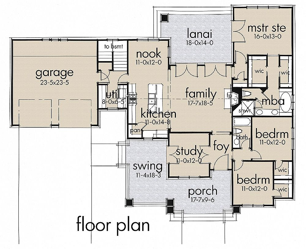 craftsman style house plan 3 beds 2 baths 1879 sq ft plan 120