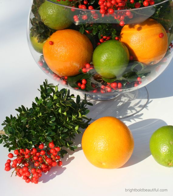 Citrus Holiday Arrangement Holiday Decorating Christmas Craft