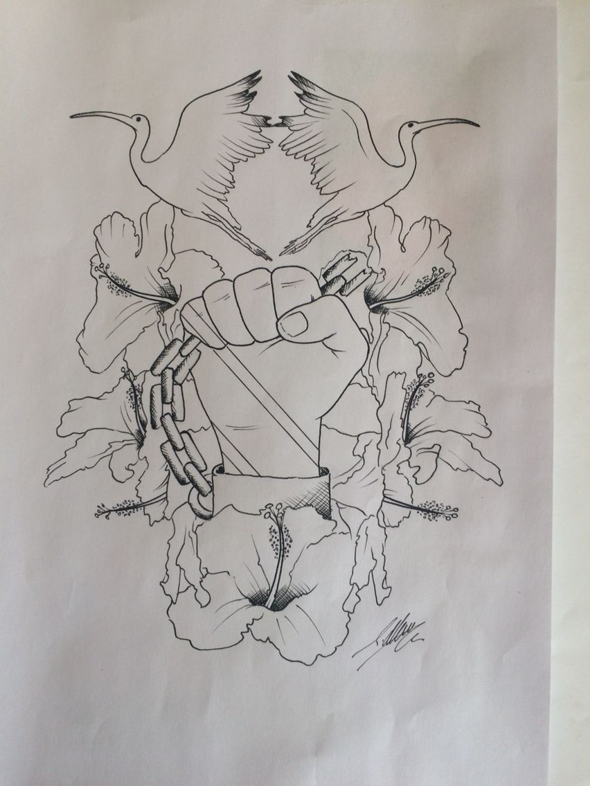 Custom Tattoo Design U Have Drawn Up By Travis Allen Www