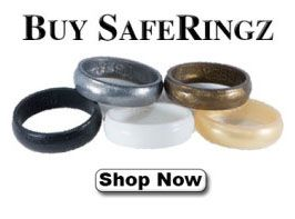 Safe Rubber Wedding Bands and Rings Non Conductive Flexible