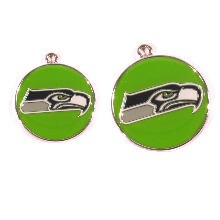 Seattle Seahawks NFL Dog Tags With Custom Engraving available at HotDogCollars.com