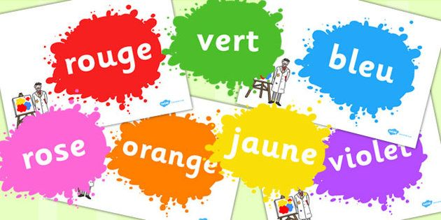 Colours in French Display Posters | French colors, French activities,  Bright color schemes