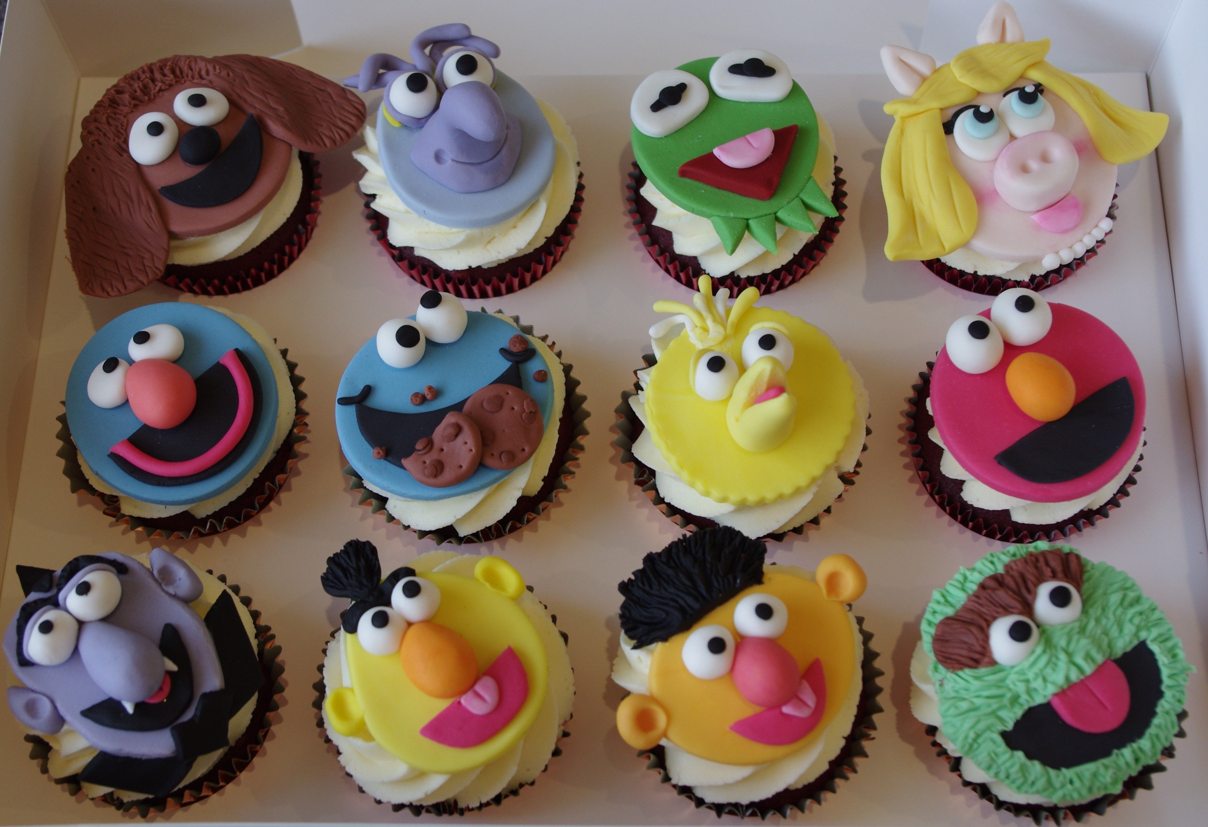 Sesame Street and The Muppets Cupcakes
